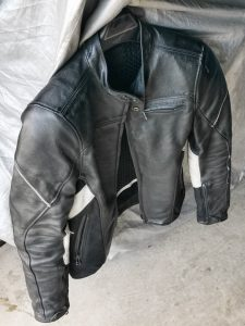 Sport leather jacket